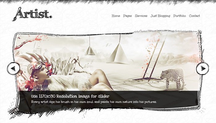 sketch handdrawn artist wordpress theme portfolio