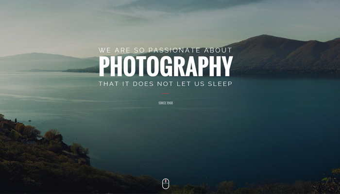 capture portfolio theme photography design