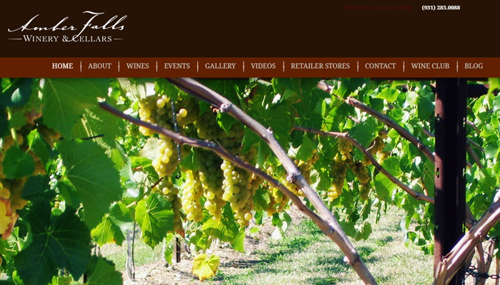 amber falls winery cellar website