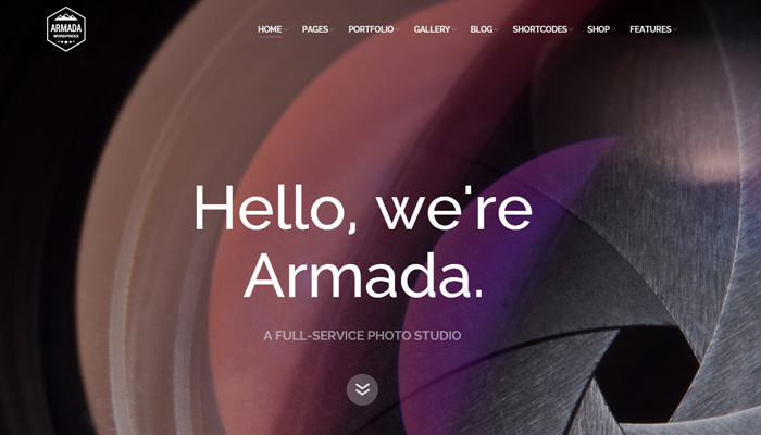 armada photography wordpress theme design