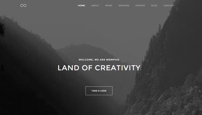 memphis minimal creative wp theme design
