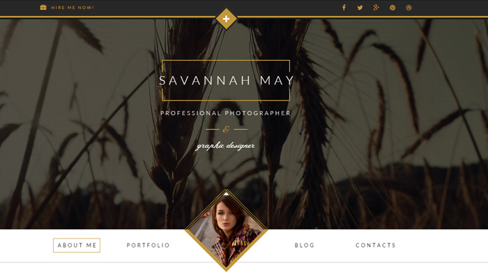 savannah wordpress vcard portfolio wp theme