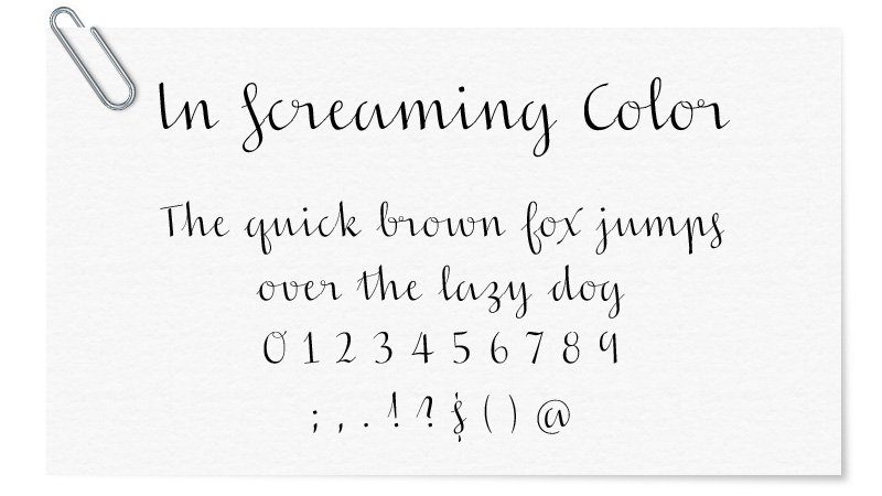 In Screaming Color