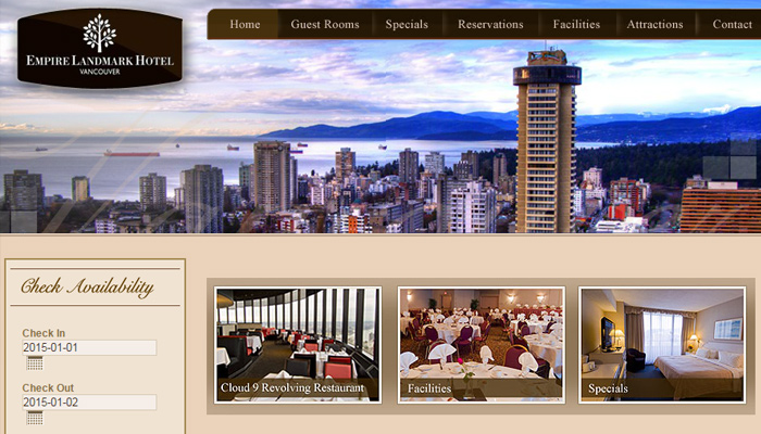 vancouver canada empire landmark hotel website