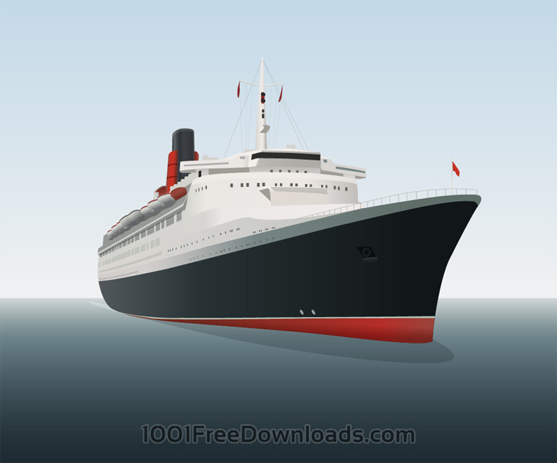 Vector Illustration Ocean Liner