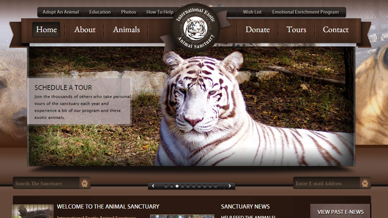 exotic international animal sanctuary website