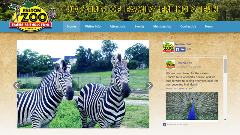 reston zoo virginia usa website