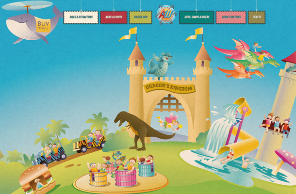adventure world design illustration background