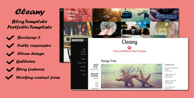 Cleany - Blog & Portfolio Template