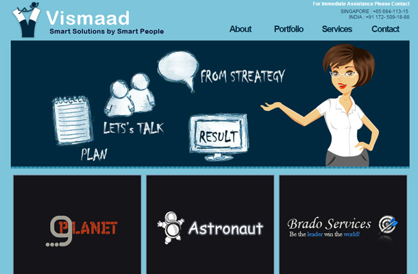 vismaad smart homepage design startups