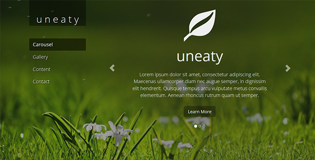 Uneaty - Responsive One Page Theme