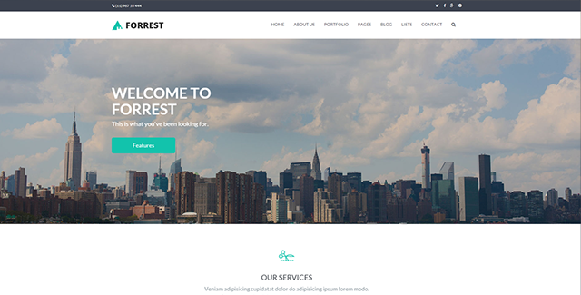 Forrest - Multipurpose HTML Template