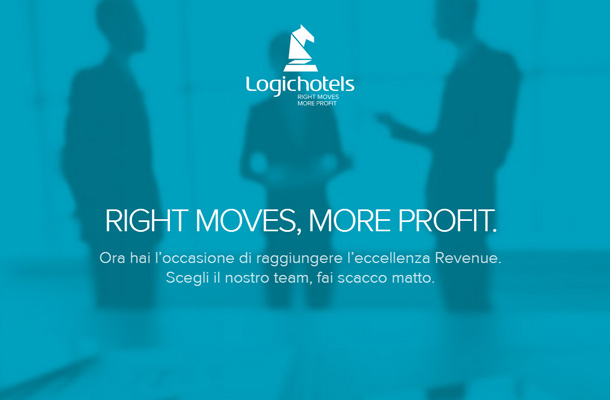 logichotels webpage design blue inspiration