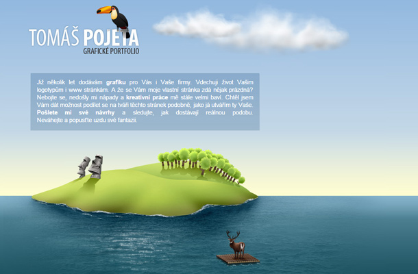 tomas pojeta website portfolio layout