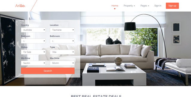 Arillo - Responsive Real Estate Theme