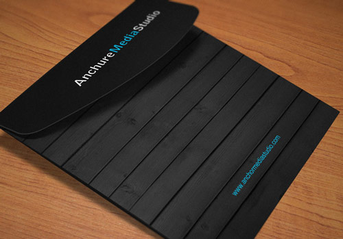 black brochure design
