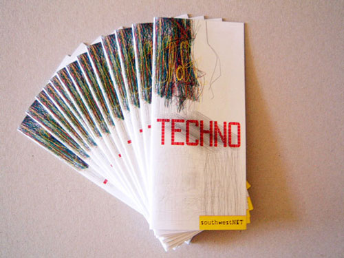 techno brochure design
