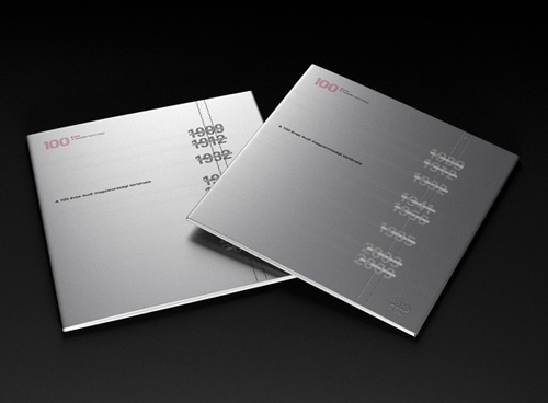 metallic brochure design