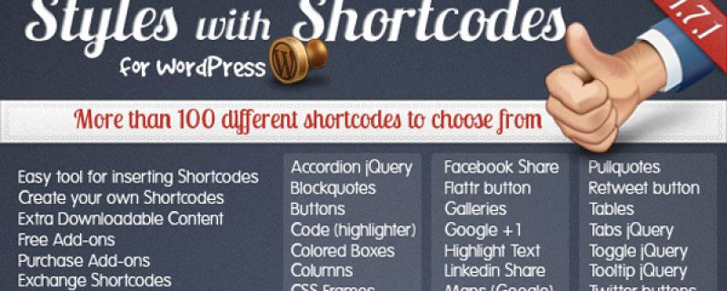 WordPress shortcodes: usarli è facile con Styles with Shortcodes