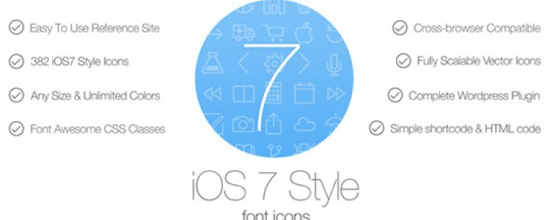 Icone in stile iOS7 per siti WordPress