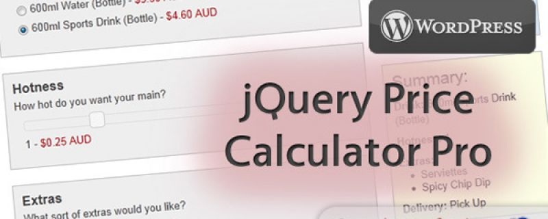 Calcolo prezzi su WordPress: WP Price Calculator Pro plugin