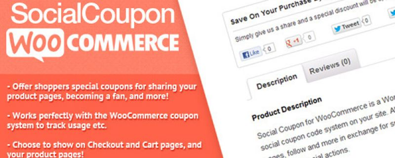 Gestione coupon con woocommerce via social plugin WordPress
