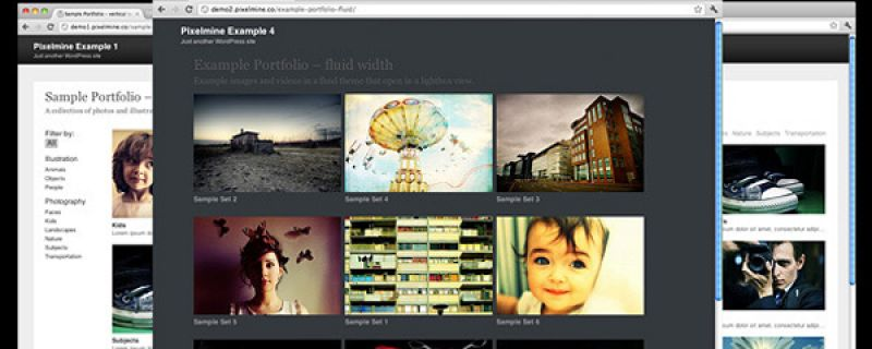 Creare portfolio online su WordPress con Pixelmine plugin