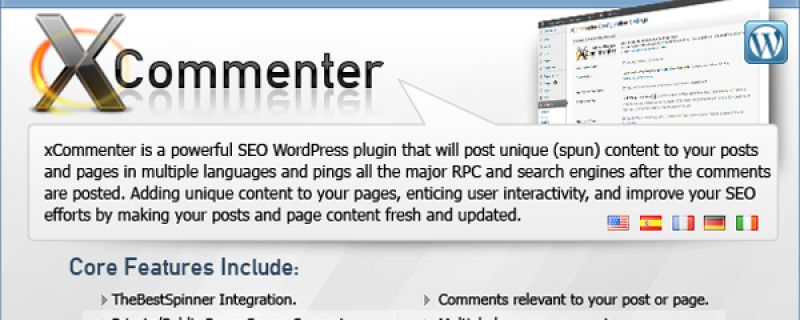 Commenti automatici per siti WordPress: xCommenter plugin