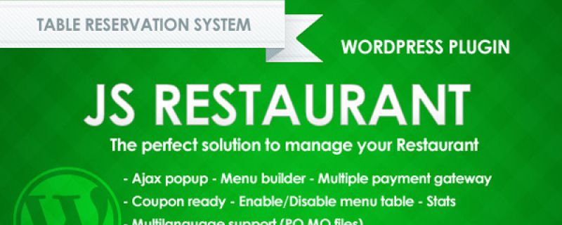 WordPress restaurant plugin: Js Restaurant table reservation