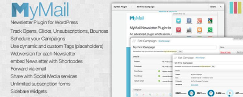Plugin WordPress per newsletter semplice e intuitivo: Mymail