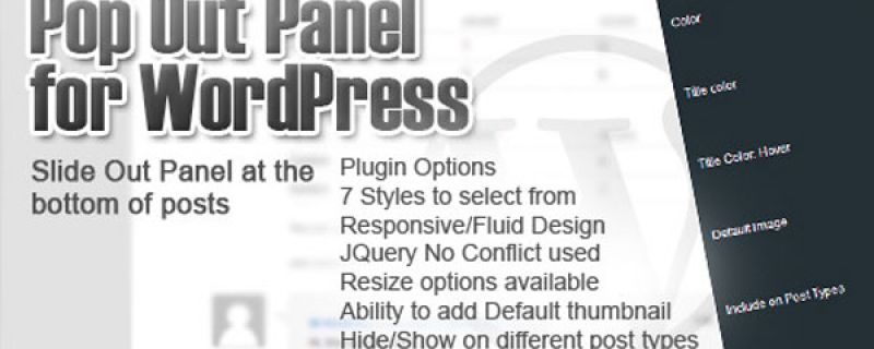 Pop up per articoli correllati: plugin WordPress Pop Out Panel