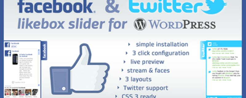Social network in WordPress: Facebook likebox slider plugin