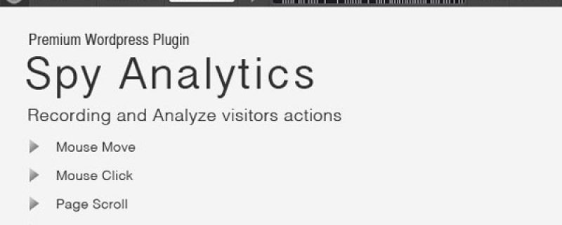 Analizzare azioni utenti WordPress con Spy Analytics plugin