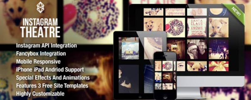 Gallerie Instagram per WordPress: Instagram Theatre plugin