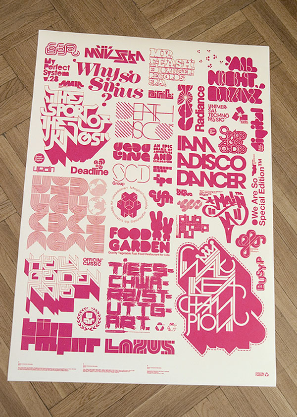 Printed posters, 2009 Print Inspiration