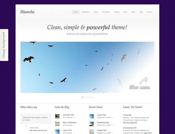 Blanche Tema per WordPress