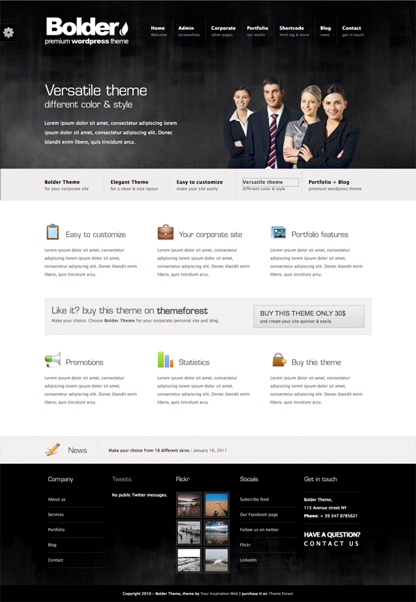 Bolder Premium Corporate & Portfolio WP Theme