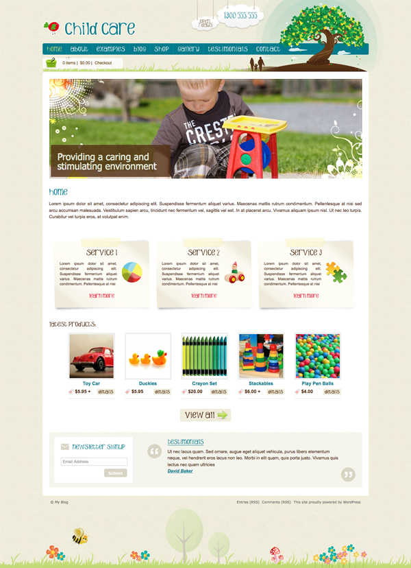 Child Care Creative Tema per WordPress