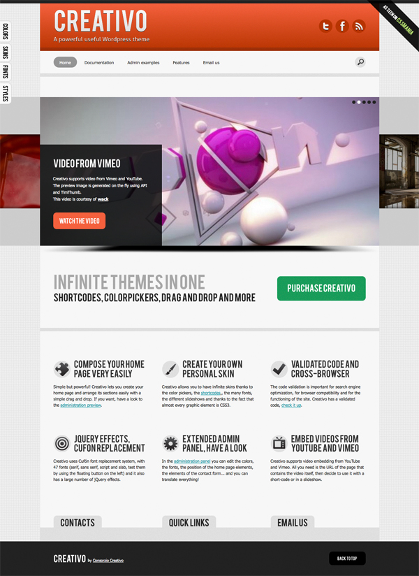 Creativo: Infinitely Customizable Tema per WordPress