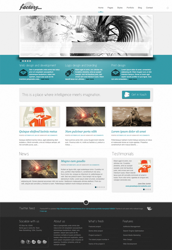 Factory Business Portfolio Themes