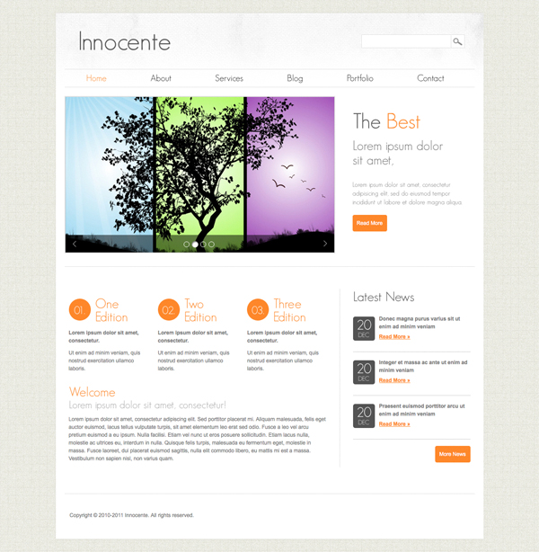 Innocente - Clean and Minimalist Tema per WordPress