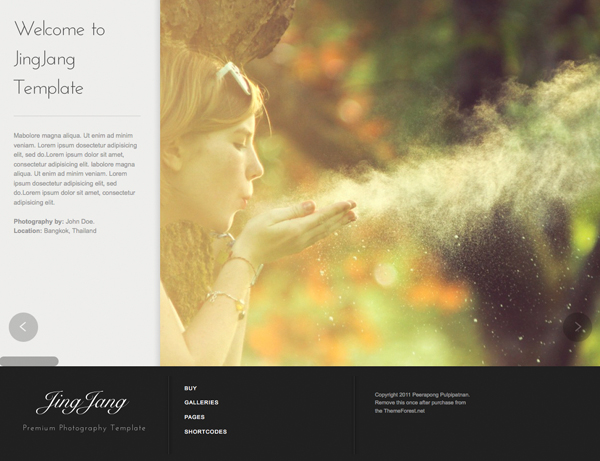 JingJang  Premium Theme for Photography Portfolio