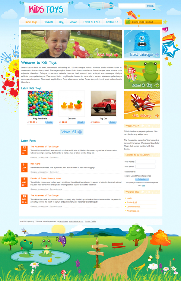 Kids Toys Tema per WordPresss