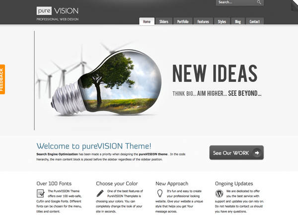 PureVISION Tema per WordPress