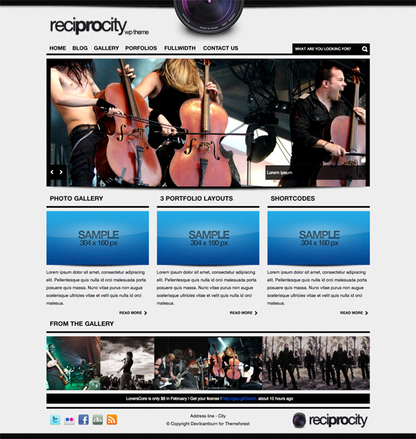 Reciprocity WordPress Photo Blog Gallery