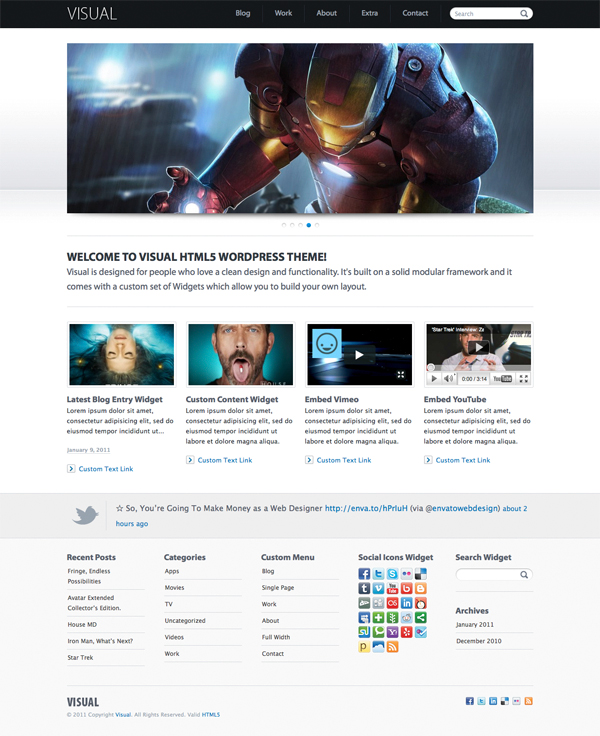 Visual HTML5 Tema per WordPress