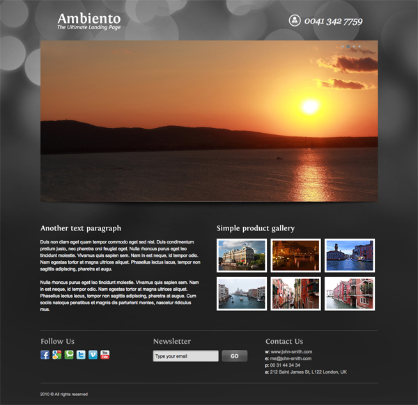Ambiento Premium Landing Page by seal