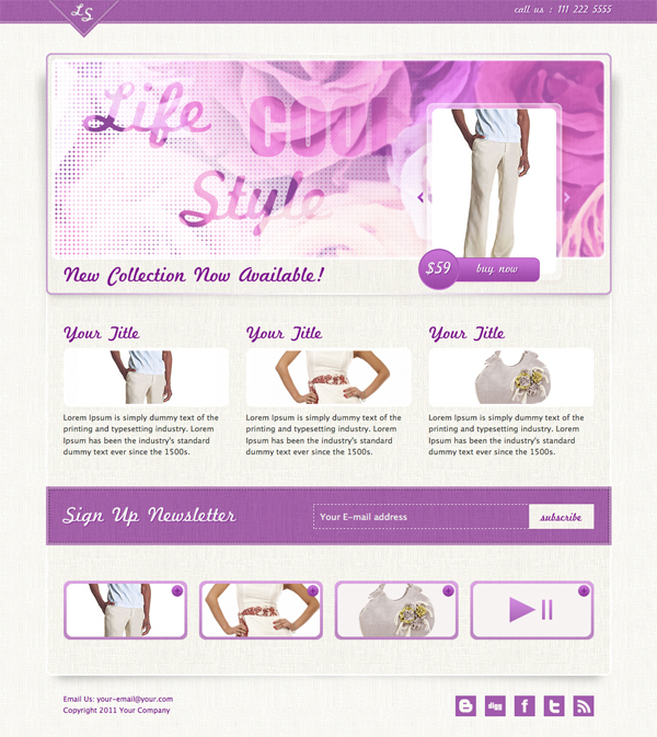 Life Style Landing Page by NORDiX