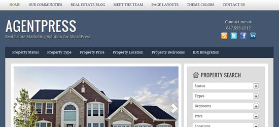 agentpress 25 High Quality Real Estate WordPress Themes