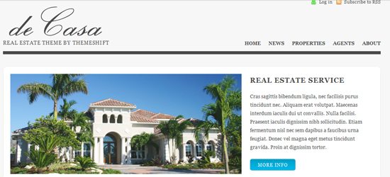decasa 25 High Quality Real Estate WordPress Themes